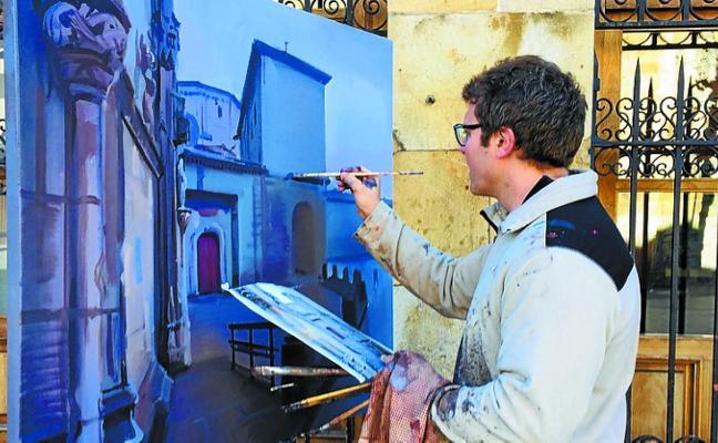 El certamen de pintura al aire libre volverá a llenar de artistas las calles el domingo