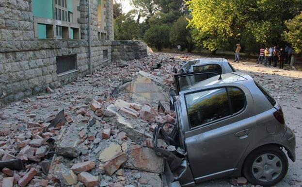Damage caused by the earthquake in Tirana.