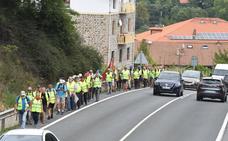 Treinta pensionistas vascos en la 'columna norte' que marcha a pie hasta Madrid