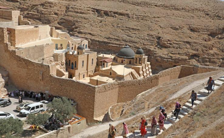 Monasterio turístico en Grecia