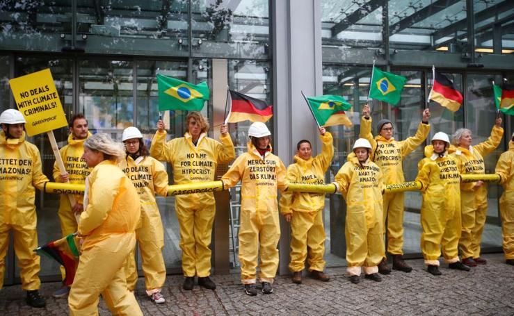 Protesta en Berlín
