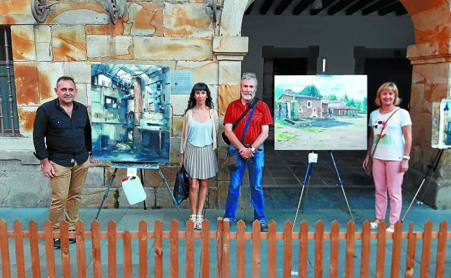 La bilbaína Leticia Gaspar gana el concurso de pintura al aire libre