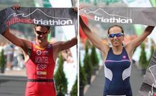 Guillem Montiel y Ainhoa Murua ganan el triatlón olímpico de Bilbao