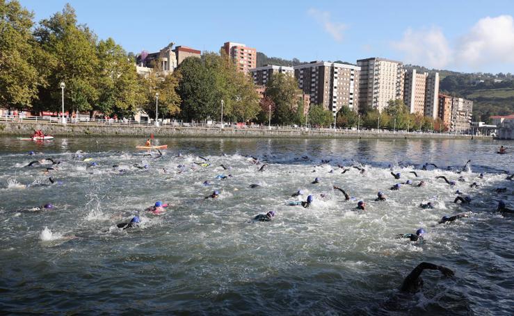 Las mejores imágenes del Bilbao Triathlon 2019