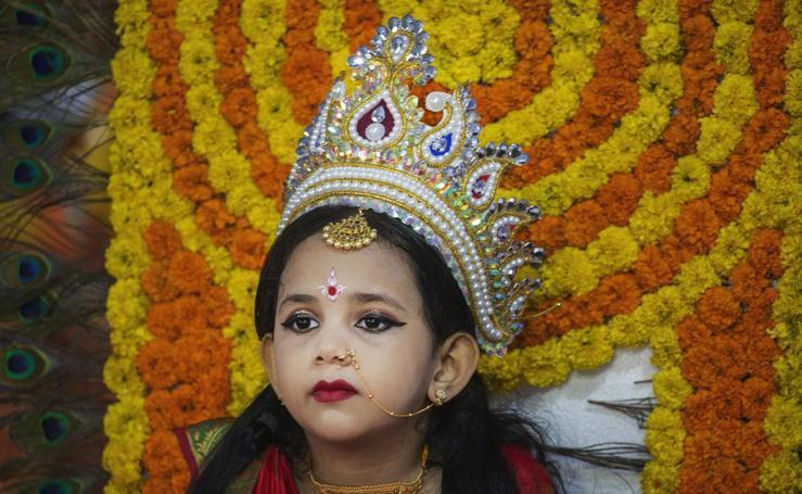 La Diosa de Bangladesh en Kumari Puja
