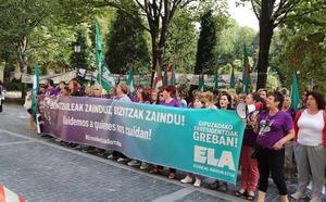 ELA «recrudecerá» la huelga en residencias tras 107 días de paros sin acuerdo