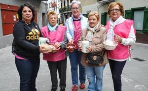 Cuestación de la asociación Katxalin en el Día Mundial contra el cáncer de mama