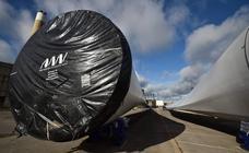 Enormes turbinas de eólicos