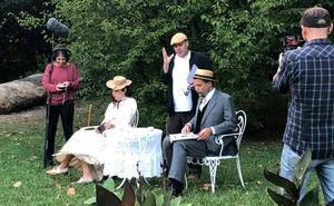 Teatro al aire libre en el parque