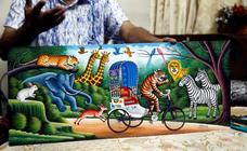 Arte en las bicitaxis en Daca