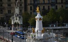 Los obeliscos muestran su aspecto original