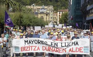 Jubilados guipuzcoanos acudirán el miércoles a la concentración frente al Congreso