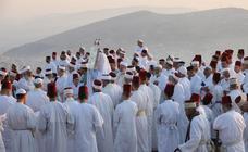Los samaritanos rezan en la montaña