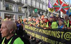 Los jubilados llegan a Madrid para la movilización