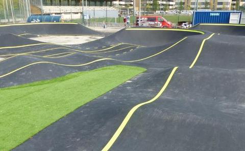 La nueva pista de pump track, a punto de estreno