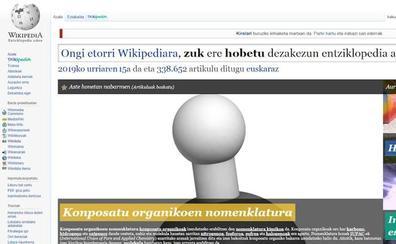 Euskara, Wikidatan esanahi kopururik handiena duen hizkuntza