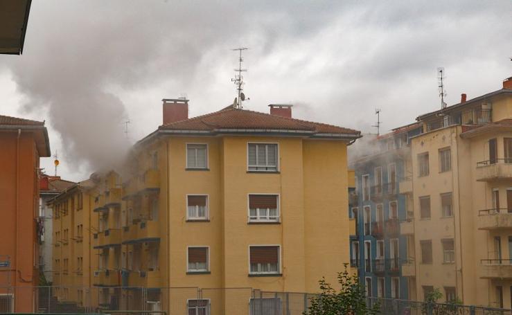 Incendio en Eibar
