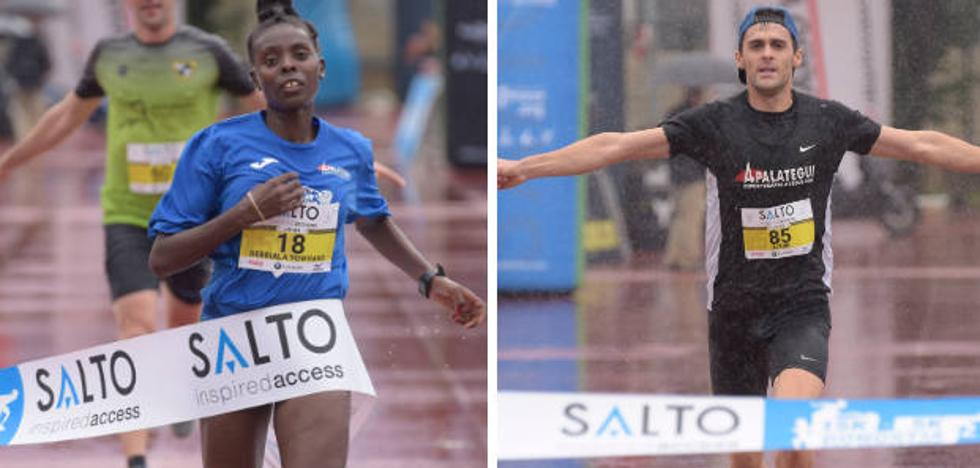 Aitor Etxeberria y Gebriala Baraki, ganadores de la 15 Klasikoa de San Sebastián
