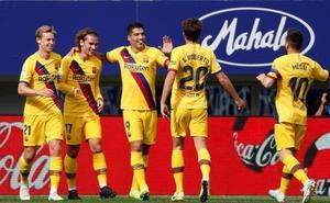 Griezmann y De Jong ya encajan en un Barça líder