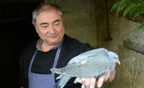 Redes y palomas en Etxalar