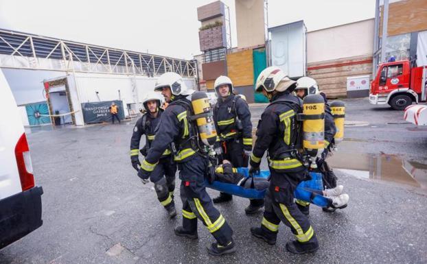 Simulacro con fuego real en Garbera - Diario Vasco