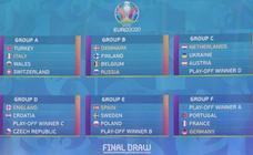 Las mejores imágenes del sorteo de la Euro 2020