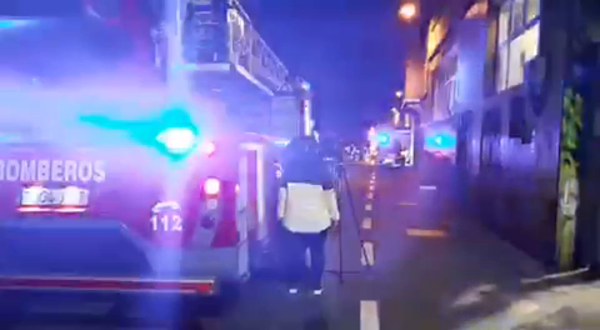 Cinco heridos leves por un incendio en Donostia