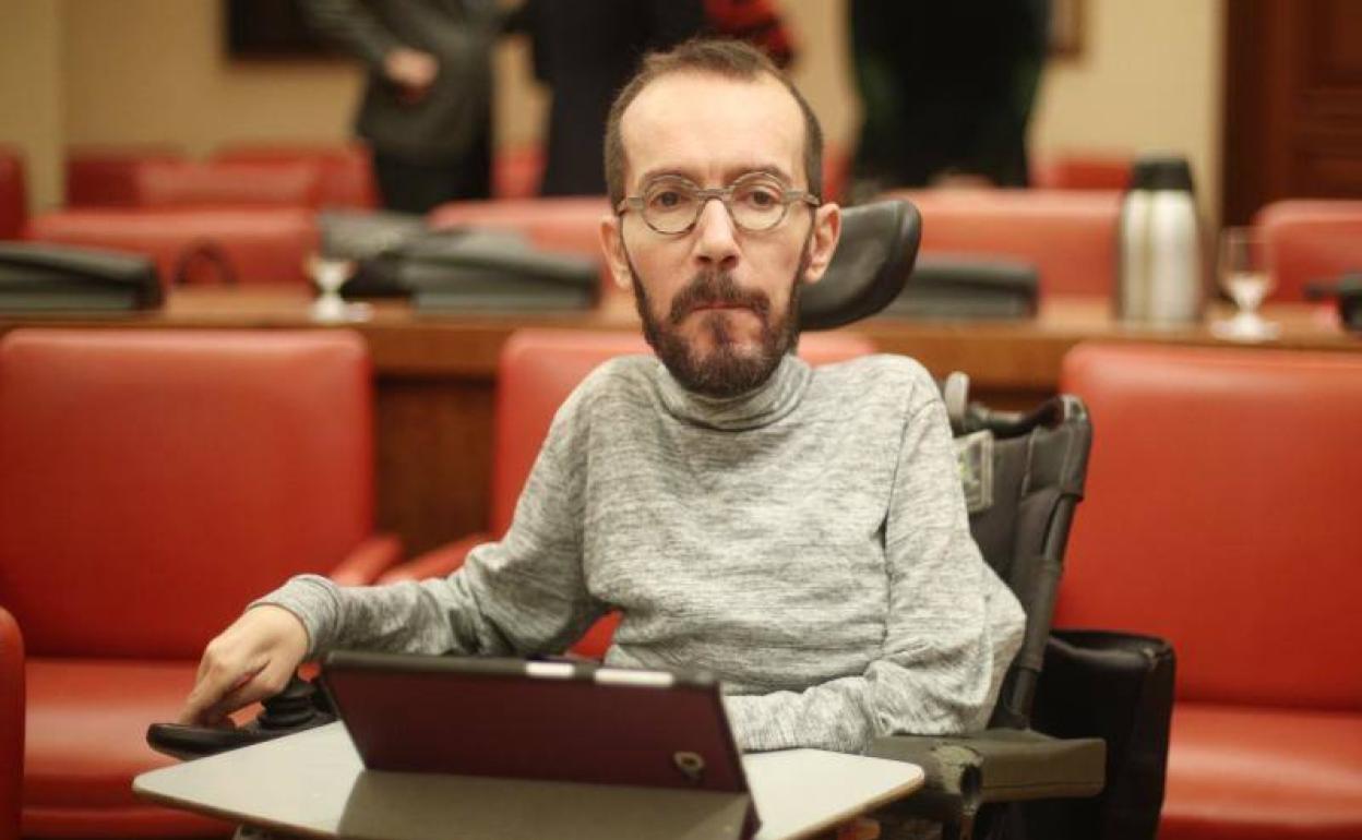 Pablo Echenique llama «señor Salvini» a Santiago Abascal tras escuchar sus declaraciones