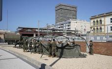 La estación de Atotxa, desinfectada por el ejército