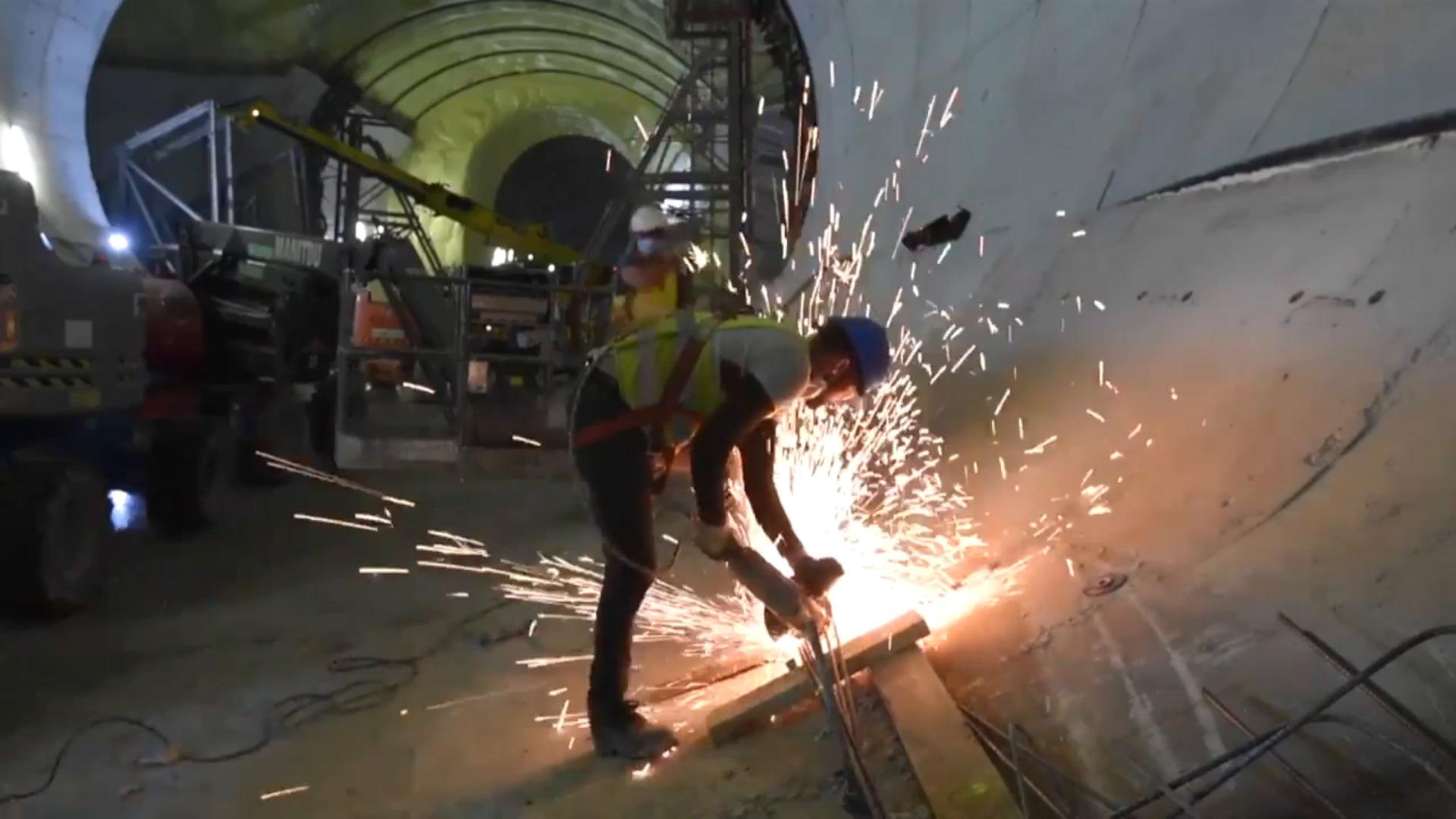 Avanza el túnel del Topo en Benta Berri