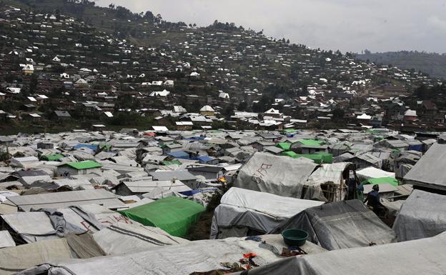 Campamento de refugiados en la República Democrática de Congo.