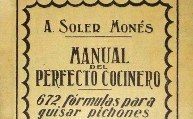 Portada del libro de Soler y Monés dedicado a la cocina del pichón.