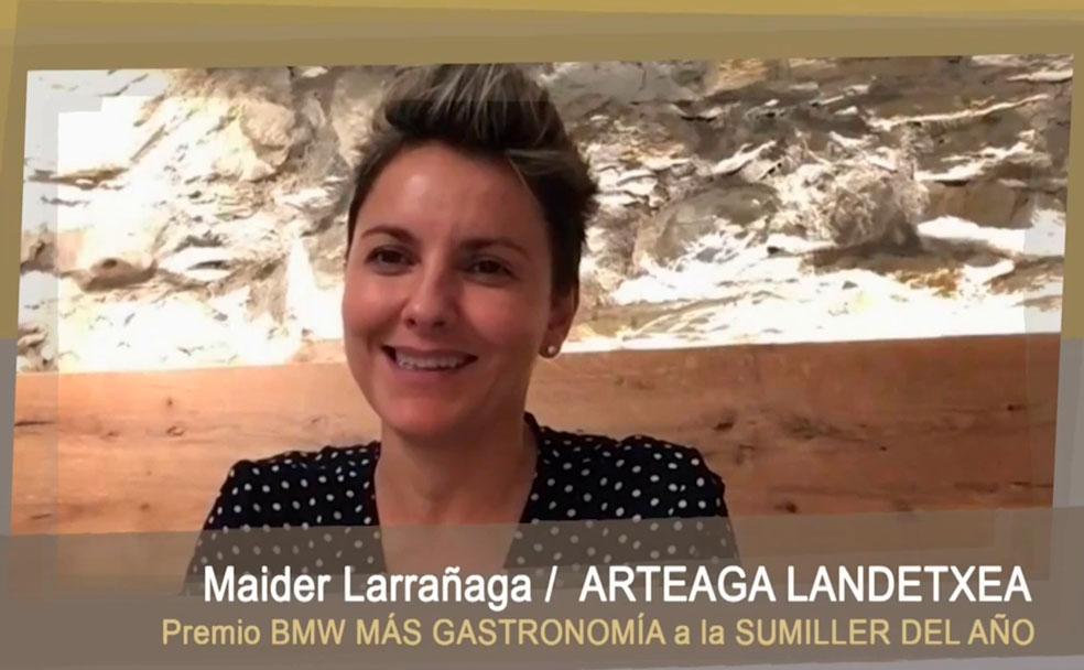 Maider Larana de Artega Landexia gana el premio BMW More Gastronomy al Mejor Summarier de 2020