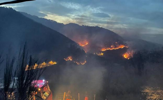El alcalde de Bera sospecha que el incendio fue provocado