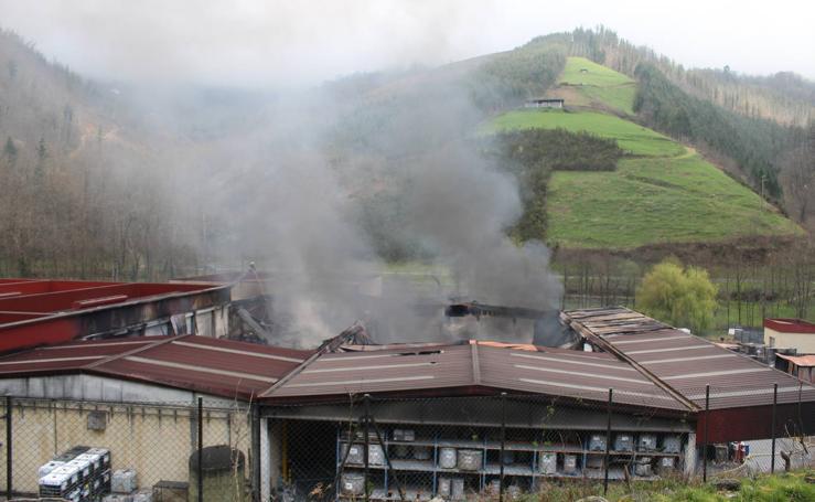 Incendio de la empresa Irurena de Azpeitia