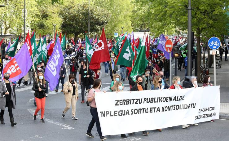 Huelga del sector público vasco