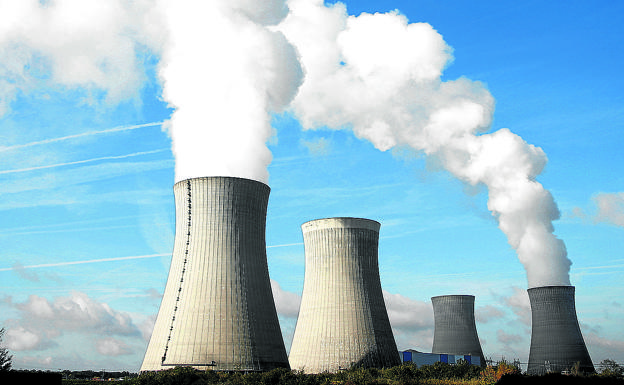 Cooling towers of the Electricite de France (EDF) nuclear plant located in Dampierre-en-Burl.