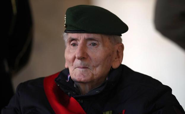 Humbert Germain, in a ceremony in November 2020.