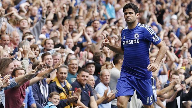 Diego Costa mantiene al Chelsea en el liderato