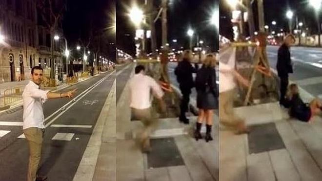 El hombre que pateó a una mujer en Barcelona queda en libertad con cargos