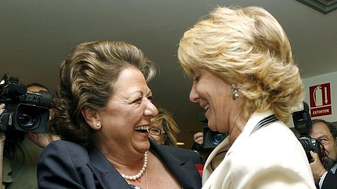 Esperanza Aguirre y Rita Barberá pueden repetir en Madrid y Valencia