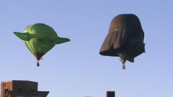 Los personajes de Star Wars 'conquistan' el cielo de Maine