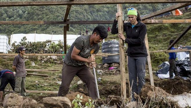 La Fundación de Edurne Pasaban culmina la reconstrucción de un pueblo en Nepal