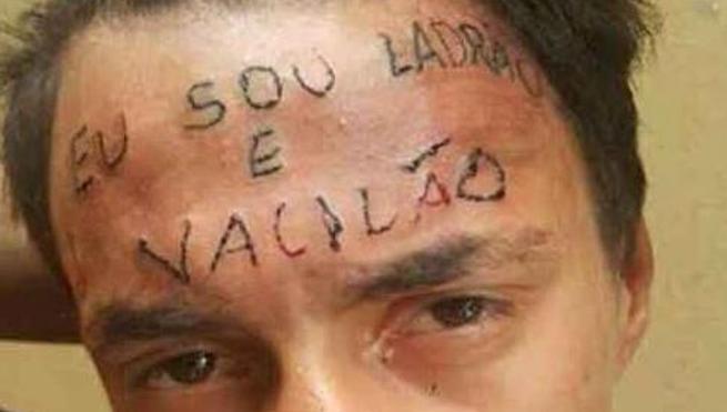 Tatúan en la frente 'Soy un ladrón' a un joven brasileño que robó una bicicleta